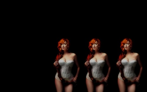 Christina Hendricks wallpaper possibly with a concert titled Christina Hendricks