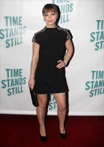 """Christina @ """"Time Stands Still"""" Broadway Opening Night"""