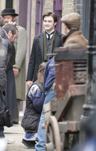 Dan Radcliffe on the set of The Woman in Black
