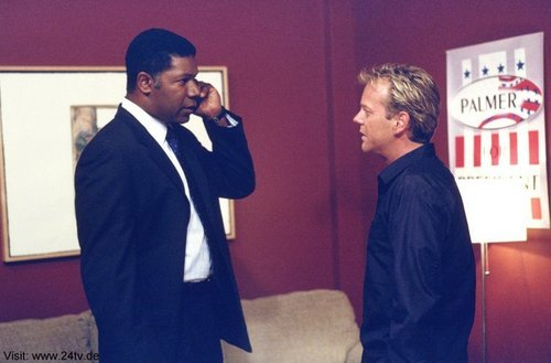 Dennis Haysbert & Kiefer as David Palmer & Jack Bauer