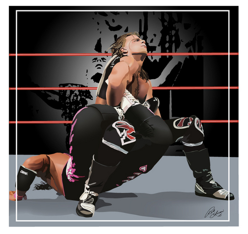 HBK vs. HIT MAN - Sharpshooter