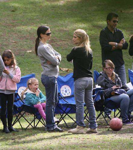 Jen & the girls at soccer practice 10/30/10