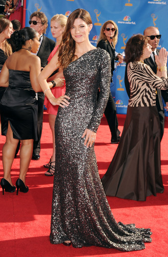 Jennifer Carpenter in a One-Shoulder gaun at the 2010 Emmys