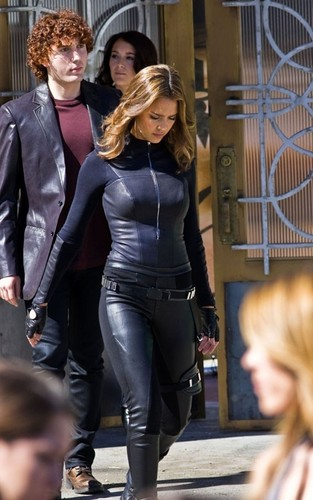 "Jessica on set ""Spy Kids 4"""