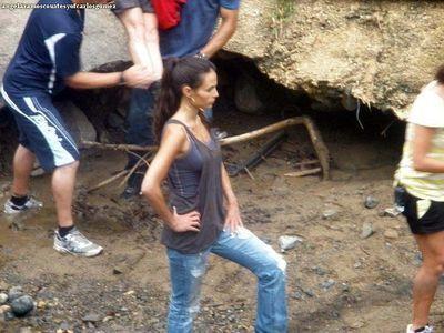"Jordana on set ""Fast & Furious 5"""