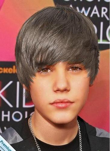 Justin Bieber with grey hair(just for fun, no hater)