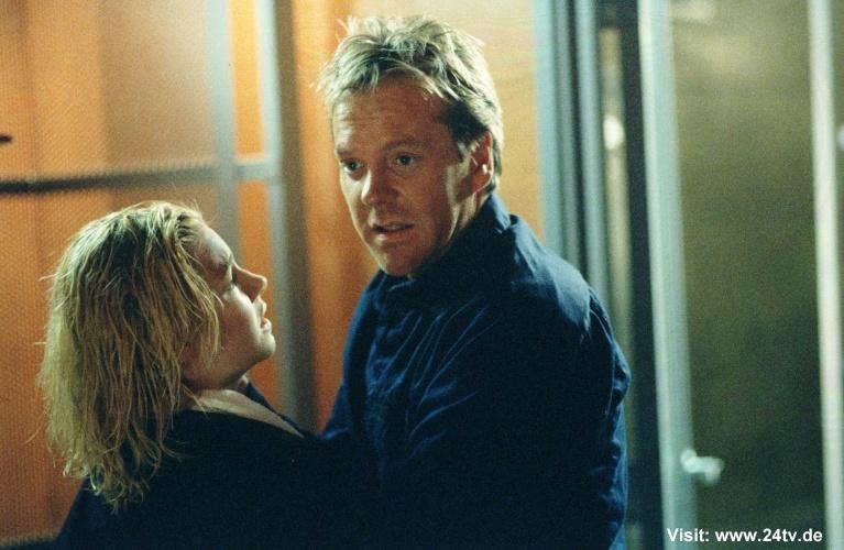 Kiefer & Elisha as Jack & Kim Bauer