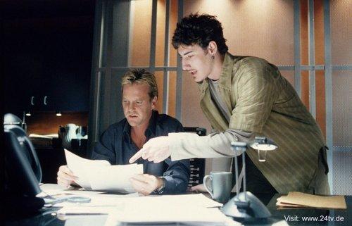 Kiefer & Eric Balfour as Jack Bauer & Milo Pressman