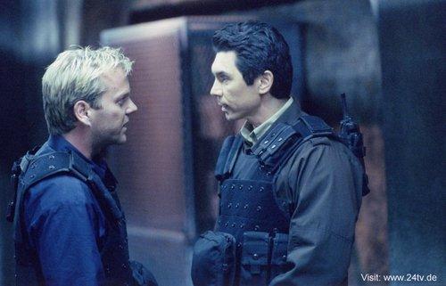 Kiefer & Lou Diamond Phillps as Jack Bauer & Mark DeSalvo