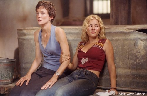 Leslie Hope & Elisha Cuthbert as Teri & Kim Bauer