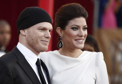 Michael C. Hall and Jennifer Carpenter at the SAG Awards in January 2010 (Close Up)