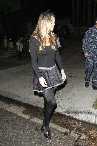 Molly Sims Goes to a Halloween Party in Beverly Hills