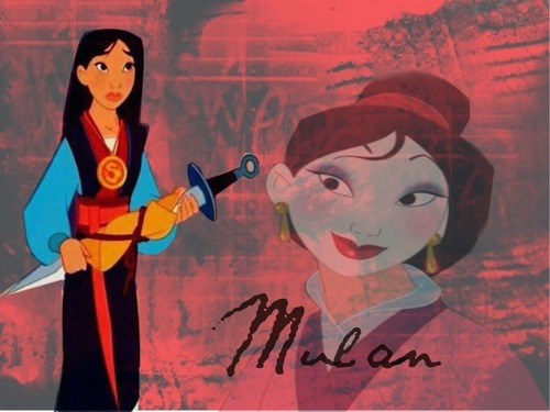 Disney Princess wallpaper with anime entitled Mulan