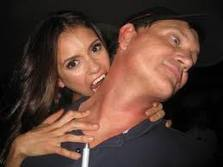 Nina Dobrev biting Kevin williamson