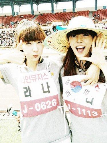 Rana & Bini at Idol звезда Athletics Championships Chuseok Special