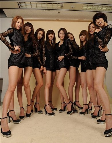Nine Muses fondo de pantalla possibly with bare legs and a hip boot titled Nine Muses