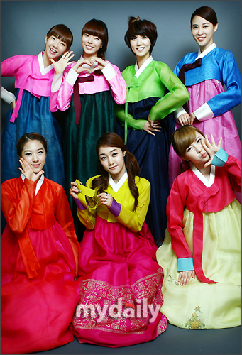 Nine Muses pose for Chuseok