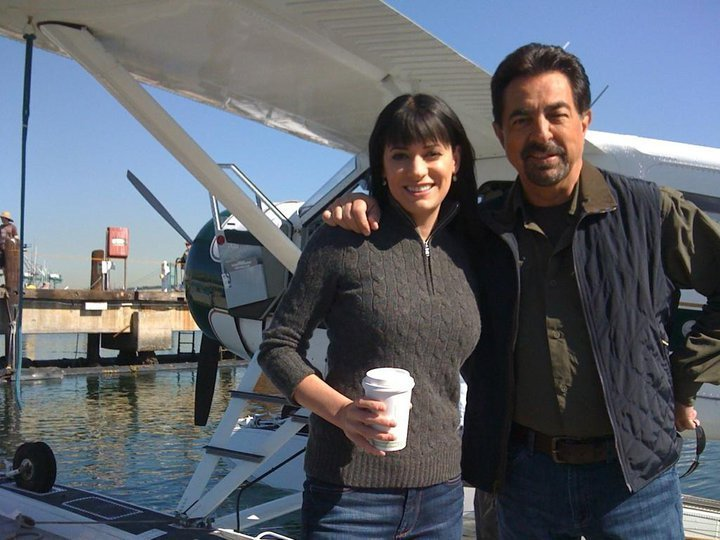 "Paget and Joe on the ""Exit Wounds"" set"