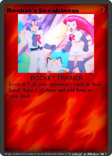 Rocket's Sneakiness