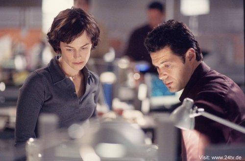 Sarah Clarke & Carlos Bernard as Nina Myers & Tony Almeida