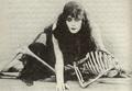 Theda Bara with skeleton