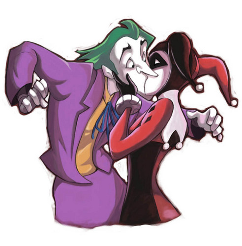 batman: hmmmmmmmm... (clicks on pic)(laughs off chair) joker: dang he saw it.... HARLEY!!! DX