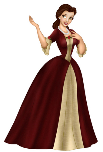 Princess Belle wallpaper possibly with a polonaise, a hoopskirt, and an overskirt called belle