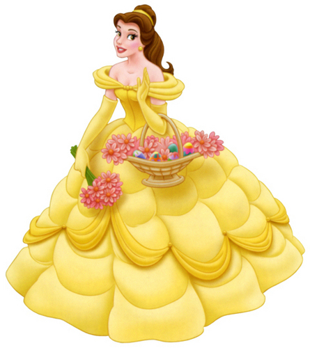 Princess Belle wallpaper with a cupcake, a bouquet, and a tutti frutti entitled belle