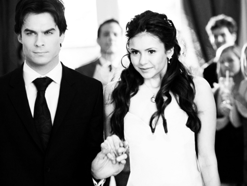 damon and elena wedding fan art