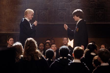 harry and malfoy in secondo anno