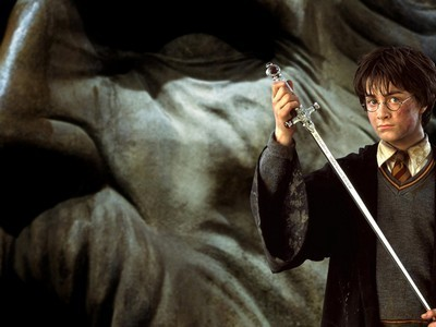 Harry Potter फिल्में वॉलपेपर called harry in the chamber of secrets