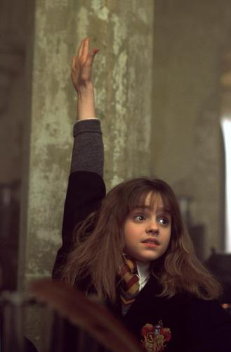 Harry Potter films achtergrond probably containing a portrait titled hermione rasing her hand