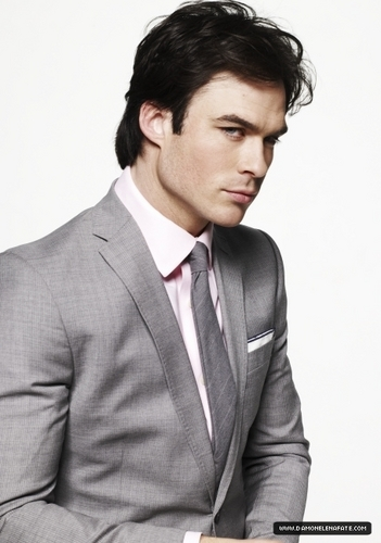 Damon Salvatore wallpaper containing a business suit, a suit, and a three piece suit titled more photos ian in a suit