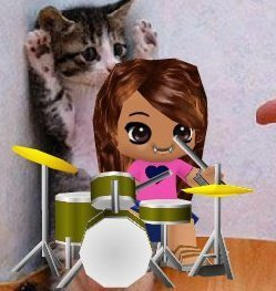 my buddy poke playing the drums