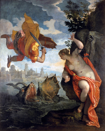 Perseus saves Andromeda