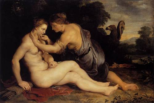 Zeus seduces Callisto - greek-mythology Photo