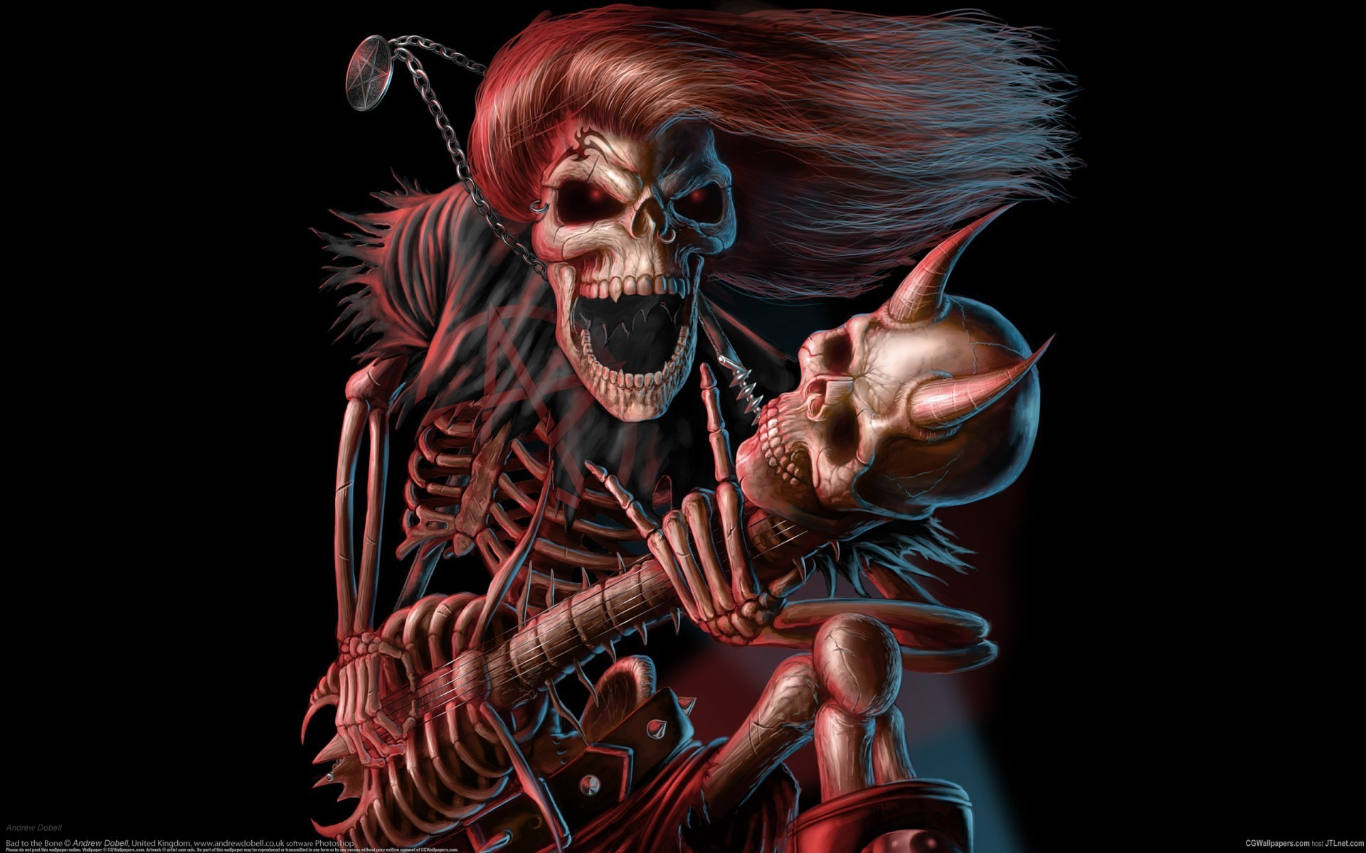 Iron Maiden skeletal rock
