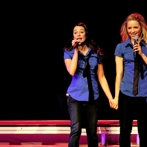 dianna agron and lea michele. straight, Dianna