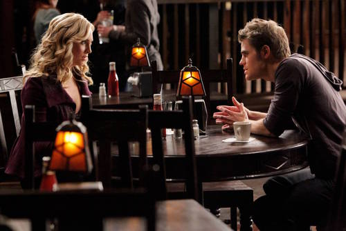 Damon and Stefan Salvatore wallpaper with a makan malam table, a brasserie, and a rumah makan, bistro entitled 2x09 'Katerina' Stills (HQ)