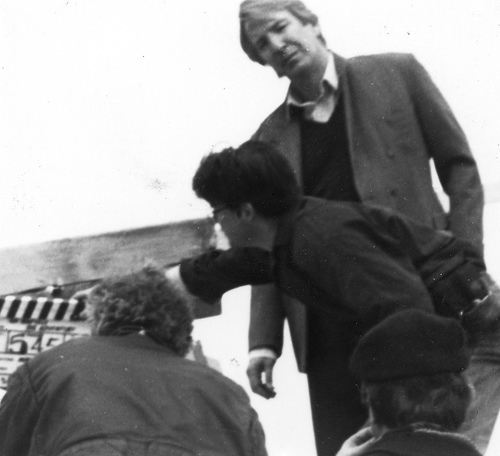 Alan Rickman wolpeyper with a business suit titled Behind the scenes of An Awfully Big Adventure with Alan :*