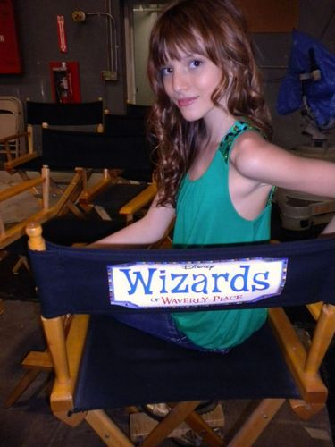 "Bella On The Set Of ""Wizards Of Waverly place"""