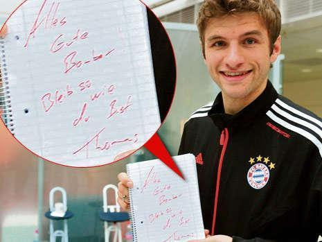 Birthday wishes from Müller to Müller