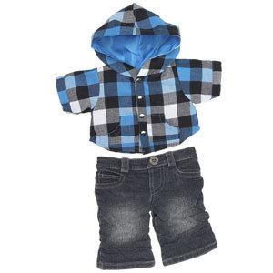 Buffalo Plaid Hoodie Outfit