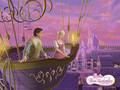 Corinne and Louis-Flying over Paris - barbie-and-the-three-musketeers wallpaper