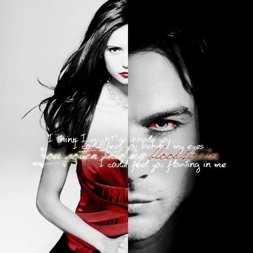 Damon & Elena wallpaper entitled Damon & Elena <3