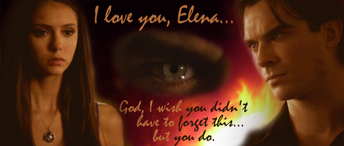 Damon and Elena (Delena) 2x08 Rose