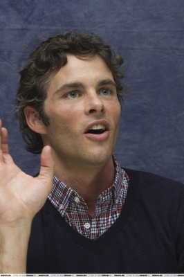 James Marsden wallpaper possibly containing a sign and a portrait titled Death At A Funeral press conference