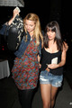 Di & Lea Dinner night at Little Dom's - lea-michele-and-dianna-agron photo