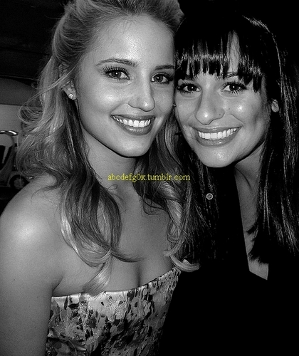 Lea Michele and Dianna Agron wallpaper possibly containing a portrait called Di/Lea ♥