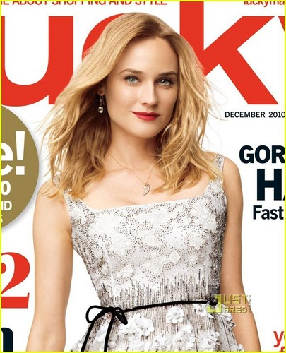 Diane Kruger Covers 'Lucky' December 2010